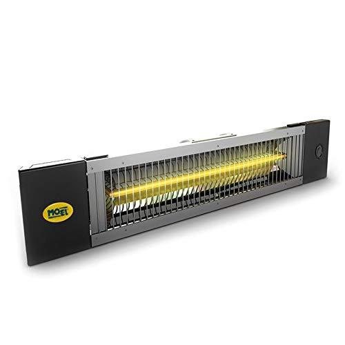 Moel Petalo Infrarot Heizung mit Ketten zur Deckenmontage mit 1200 oder 1800 Watt, Leistung:1800 Watt (1800 Watt)