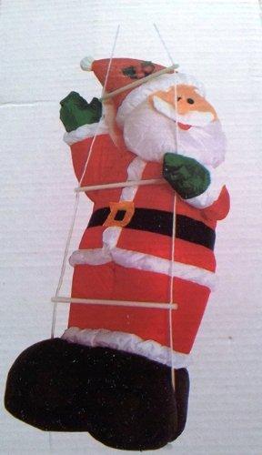 infactory un self-gonfiaggio XXL Babbo Natale sulla scala, 120 cm