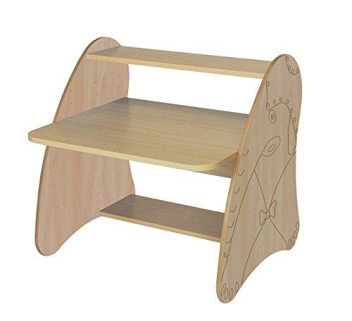 Mobeduc 600912HR18 Table Ordinateur Enfant Primaire Bois hêtre/80 x 80 x 75 cm