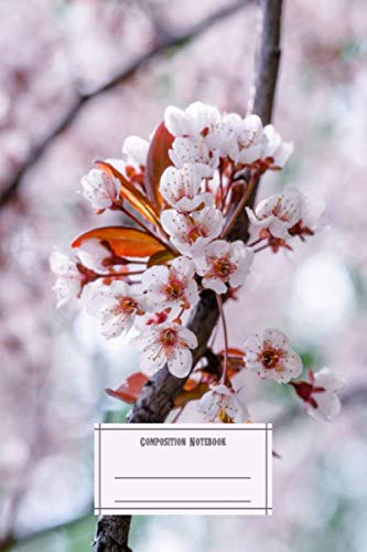 Composition Notebook: Landscapes Pink Japanese Cherry Tree Sakura Flowers In Full Bl Flowers Composition Notebobok Over 50 Sheets