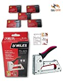 Toolscentre Kangaro Miles Metal Body Ts-623 Staple Gun Tacker With 5000 Staples (Medium, Red)