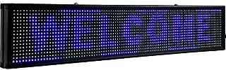 VEVOR Signe de Défilement LED Signe Bleu 10mm LED Signe Lumineux 101x20cm LED Panneau d'Affichage Numérique Scroll Program...