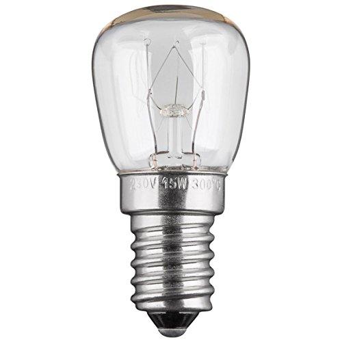 Backofenlampe   15W   E14   230V   2200 K   warm-weiß   Birne Lampe Glühbirne Glühlampe Leuchtmittel für Backofen Backofenglühbirne   warmweiß