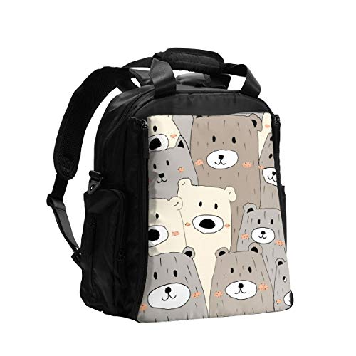 Diaper Bag Backpack Funny Fun Cute Bears Baby Diaper Bag Tote Travel Multifunction Mama Men