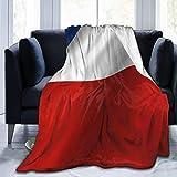 ZQHRS Manta de Franela, Mantas acogedoras con Borde Cosido con la Bandera de Chile ondeando, Alfombra portátil térmica de Felpa para sofá Cama 50x40 Pulgadas
