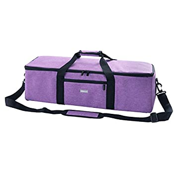 KGMCARE Lightweight Carrying Case Compatible with Cricut Explore Air  Air 2  Cricut Maker Silhouette CAMEO3 Travel Tote Bag with Pocket for Cricut Die-Cut Machine and Supplies Purple