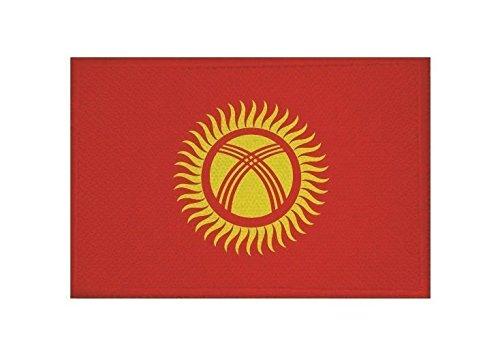 U24 Aufnäher Kirgisistan Fahne Flagge Aufbügler Patch 9 x 6 cm