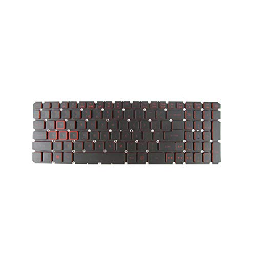New Keyboard for Acer Nitro 5 AN515 AN515-51 AN515-52 AN515-53 Series with Backlit Red no Frame