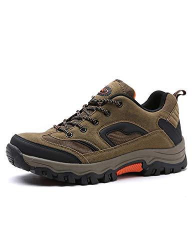 CCKK Zapatos De Hombre De Moda De Gran Tamaño 39-47 Cómodos Zapatos Casuales Impermeables Al Aire Libre con Cordones, Zapatillas De Goma para Primavera Y Otoño