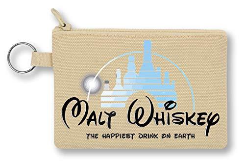 Malt Whiskey The Happiest Drink On Earth portemonnee met ritssluiting