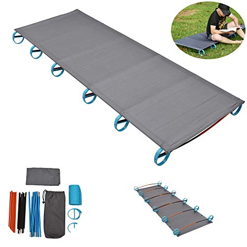 Tough Outdoors Camping Cot, Folding Military Army Camp Bed for Adults Portable...