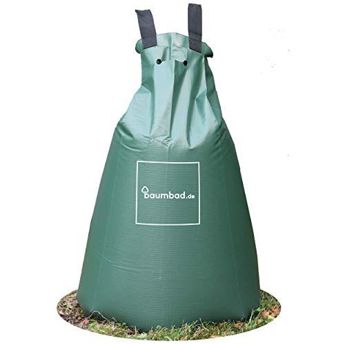 Baumbad | 1 Baumbeutel Bewässerungsbeutel für Bäume zur langzeit Bewässerungssystem | Robuster 75 Liter Wassersack / Bewässerungssack, aus UV beständigem PVC , Planzunterstützung für heiße Sommer 1