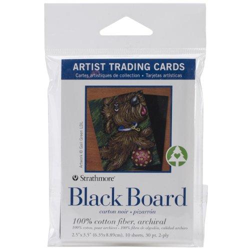 Strathmore Artist Trading Cards 2.5'X3.5' 10/Pkg-Black Board