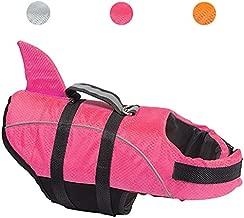 Avanigo Dog Life Jacket Shark Dog Swimming Vest,XS Rose