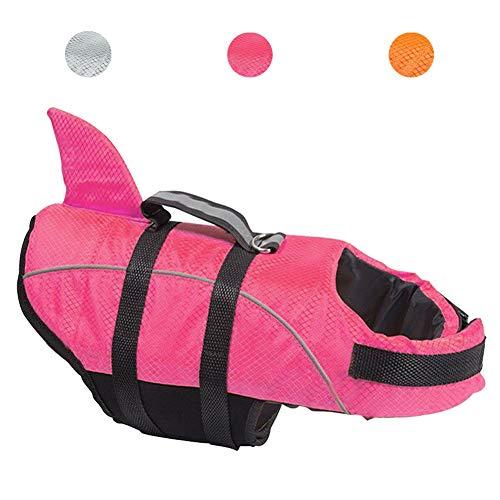 Kimol Dog Life Jacket Shark Dog Swimming Vest