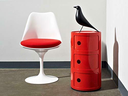 Costello® 2 3 4 5 mesita de cama con cajón lateral para muebles moderno COMPONIBILI (3 niveles,...
