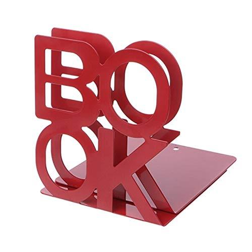 YHtech 2 unids/par de Pares Alfabeto en Forma de Metal Sookends Metal Mesh Desk Manking Office Office Home Book Holder Bookends (Color : Red)