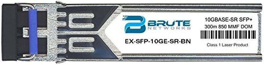 Brute Networks EX-SFP-10GE-SR-BN - 10GBASE-SR 300m MMF 850nm SFP+ Transceiver (Compatible with OEM PN# EX-SFP-10GE-SR)