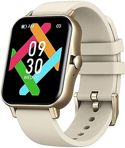 Smart Watch Bluetooth Ringa Samtal Musikspelare Se Sömnskärm Och Blodtrycksmätare För Män Kvinnor(Color:Guld)