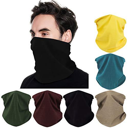Seamless Face Cover Bandanas 6pcs Magic Headbands Scarf Neck Gaiter Balaclava Headwear for Men Women (Stlye I 6pcs, one size)