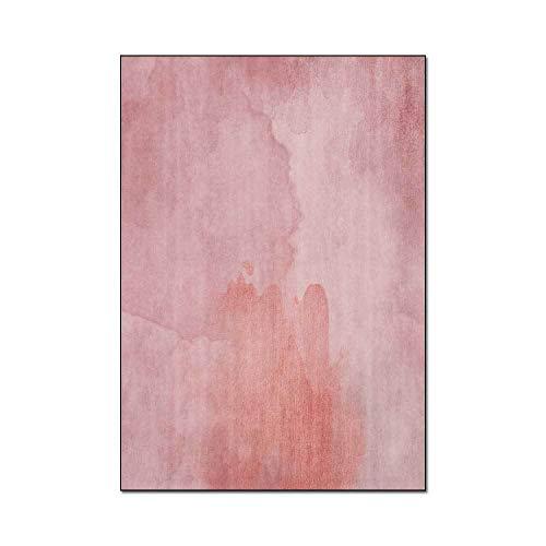 HJFGIRL Home Teppiche Moderne Minimalistische Rosa Aquarell Ölgemälde Design Teppich Anti-Rutsch-Teppich Für Mädchen Schlafsaal Schlafzimmer Wohnzimmer Kinder Dekor Boden,40x60cm(16x24inch)