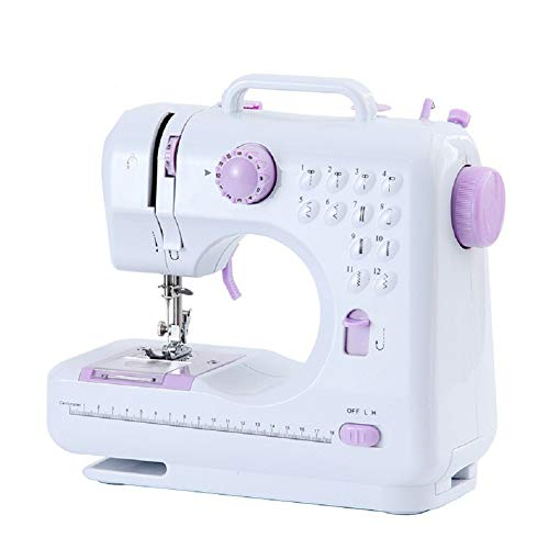 Mini Sewing Machine, Portable Electric Household Sewing, 12 Stitches for Fabric, Clothing or Child Education with Manual