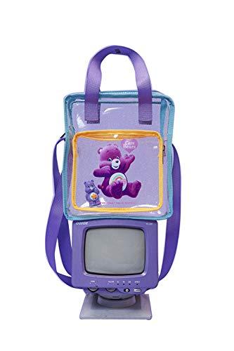 YYCC Damenhandtasche Mode Umhängetasche Transparenter Druck Tragbare Umhängetasche Plastiktüte (21 * 8 * 24cm) - Transparent-Weiß