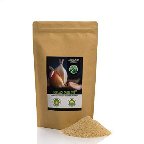 Aglio granulato (500g), aglio macinato, 100% naturale, aglio essiccato, senza additivi, vegano