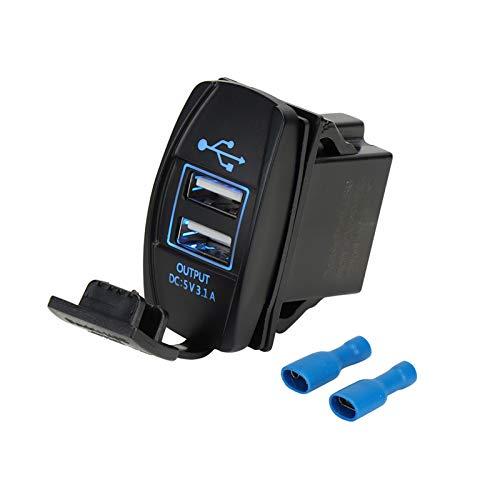 XIAOFANG 5V 4.2A Cargador Universal LED Cargador Dual USB Conjunto para Can-Am Maverick X3 FIT para Polaris RZR 1000 800 900 XP Ranger para Boat UTV ATV (Color : 5V 3.1A)