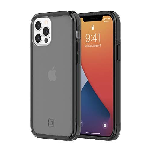 Incipio - Custodia sottile per iPhone 12 e iPhone 12 Pro, colore: Nero traslucido