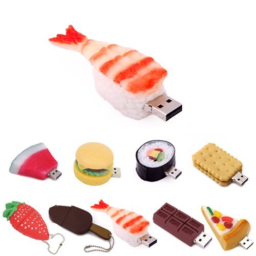 Kootion USB-Stick, 2G/4G/8G, Lebensmittel-Design 8g Shrimp Sushi