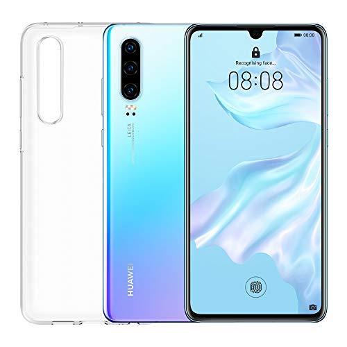 "Huawei P30 (Breathing Crystal) Smartphone+Cover Trasparente, 6GB RAM, Memoria 128 GB, Display 6.1"" FHD+,Processore Kirin 980, Tripla Fotocamera Posteriore 40+16+8MP, Fotocamera Anteriore 32MP [Italia]"