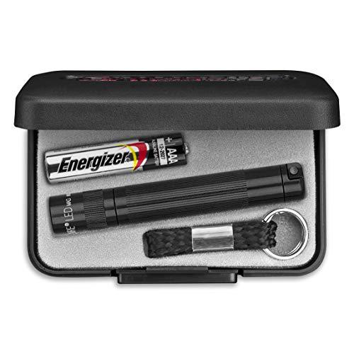 MagLite SJ3A012U Solitaire LED Taschenlampen mit Alkaline-Batterie im Etui, 1,3 cm Kopfdurchmesser, 8 cm Länge, Schwarz