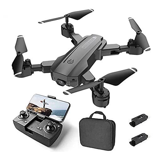 Drone Posizionamento del flusso ottico Quadricottero RC con videocamera HD 4K, modalità senza testa mantenimento dell'altitudine, Droni FPV pieghevoli Wifi Live Video 3D Flips Easy Fly Steady per l'