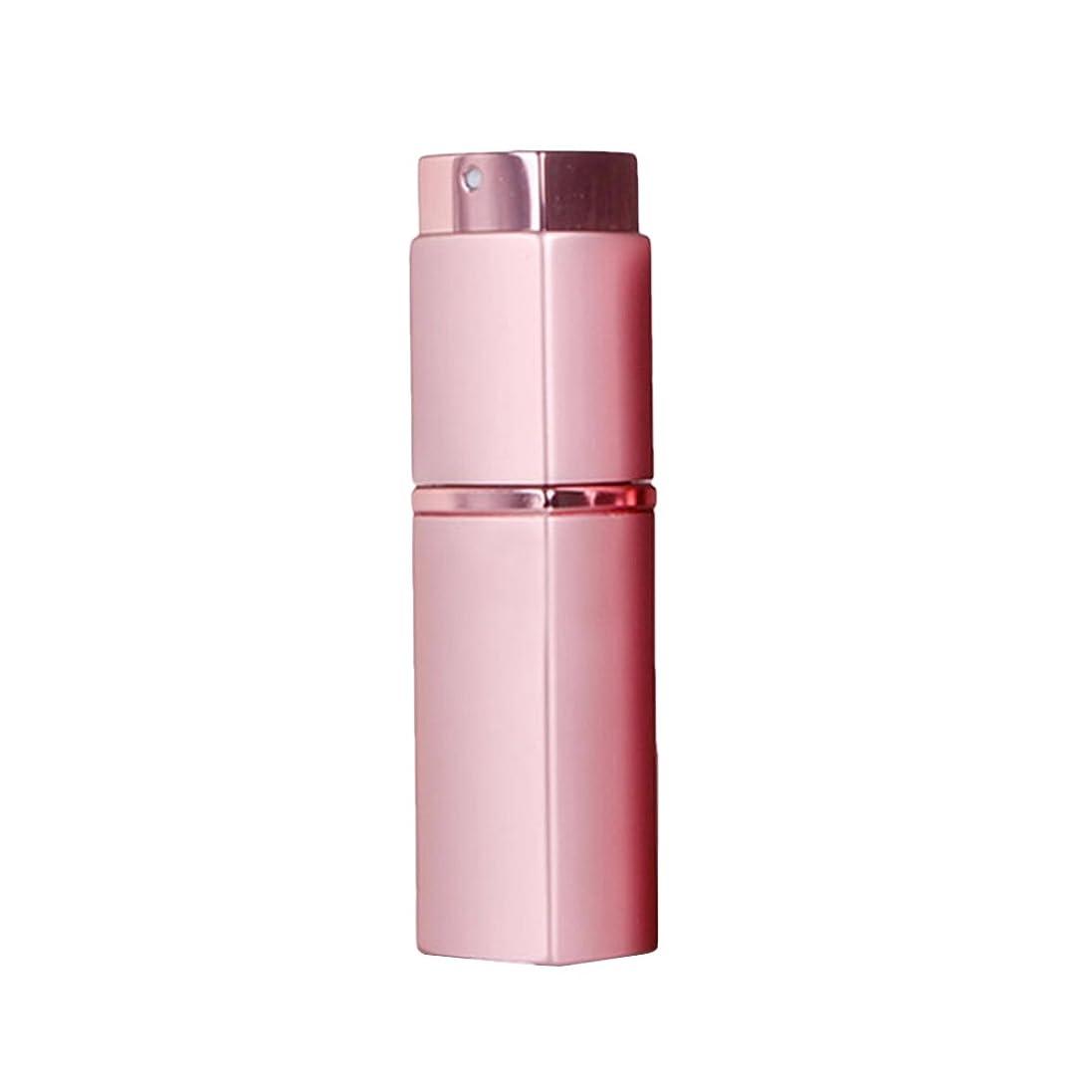 枝彫刻に応じて20ML 方形 香水 化粧水 アトマイザー スプレー ボトル 携帯用 (ピンク)