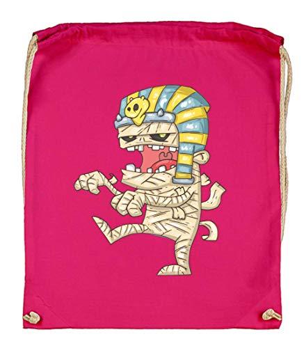Druckerlebnis24 Turnbeutel - Mumie Cartoon Ägypten Zombie - Stoffbeutel aus Bio Baumwolle