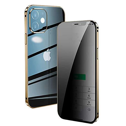 HHZY Funda Cristal Templado para iPhone 12/12 Pro Carcasa Anti-Pío Adsorción Magnética...