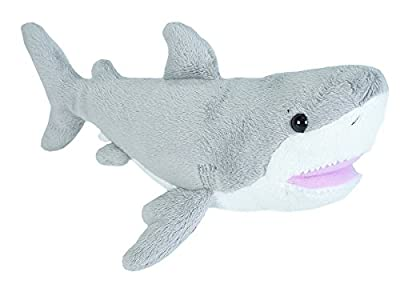 Wild Republic Great White Shark plush, Stuffed Animal, Plush Toy, Gifts for Kids, Sea Critters 11 inches from Wild Republic