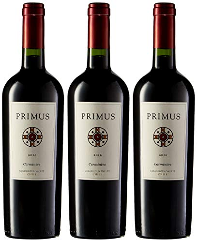 Primus Carmenere - Vino Chile - 3 Botellas x 750 ml : Total : 2250 ml