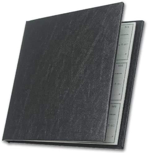 "Checkminder Cover for Executive Checks and Register, Black, Size: 9 1/2 x 9"""