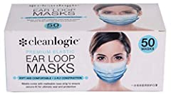 Face Coverings: Soft and comfortable disposable ear loop face coverings. These waterproof and dustproof coverings come with malleable nose strip to ensure secure-fit for ultimate seal and protection 3-Ply Construction: Outer Layer is hydrophobic non-...