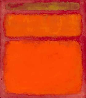 Neron Art Mark Rothko Orange, Red, Yellow, 1961 - Original Abstract Canvas Paintings Hand Painted Reproduction Rolled - 80X90 cm (Approx. 32X36 inch) for Wall Decoration