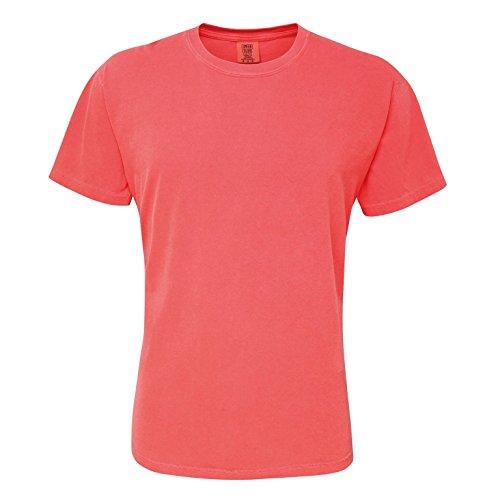 Comfort Colors Mens Heavyweight T-Shirt (Large, Bright Salmon)
