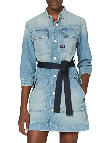G-STAR RAW Damen Casual Dress Shirt Dress, Vintage Marine Blue 9657-C075, Medium