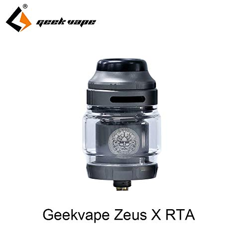 Geekvape Zeus X RTA 4.5ml Tank Capacity 810 Delrin Drip Tip Electronic cigarette Atomizer Nicotine Free Gunmetal