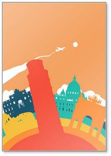 Kühlschrankmagnet, Motiv Travel Italy World Landmark