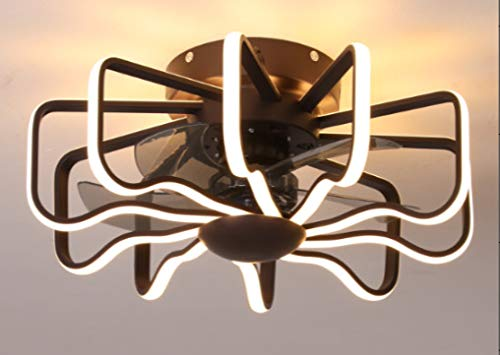 CCZUIML Lámpara De Ventilador De Techo Ultrafina Lámpara De Sala De Estar con Ventilador Ventilador De Lámpara Invisible Una Lámpara De Ventilador De Techo De Dormitorio Moderno Simple