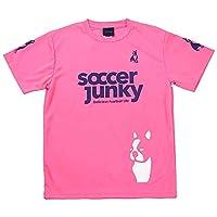[サッカージャンキー] サッカー フットサル ゲームシャツ PANDIANIゲームシャツ SJ0699 [メンズ] 蛍光ピンク×パープル 日本 S (日本サイズS相当)