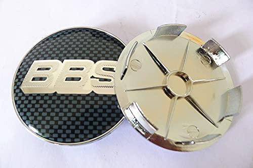 JUULLN Cubierta Central 4 unids 68 mm para BBS Coche Coche Centro Hub Cap Tapa de la Tapa de 65 mm Insignia Emblema Etiqueta Estilo Accesorios Tapacubos (Color : K)