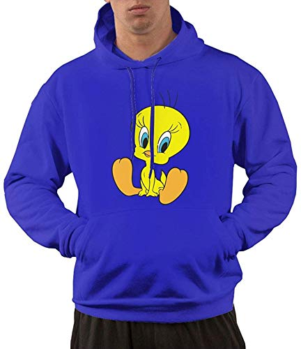 Sudadera con capucha para hombre, diseño de pájaro azul M